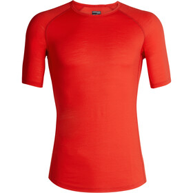 Icebreaker 150 Zone Crew Top T-shirt Heren, chili red/monsoon